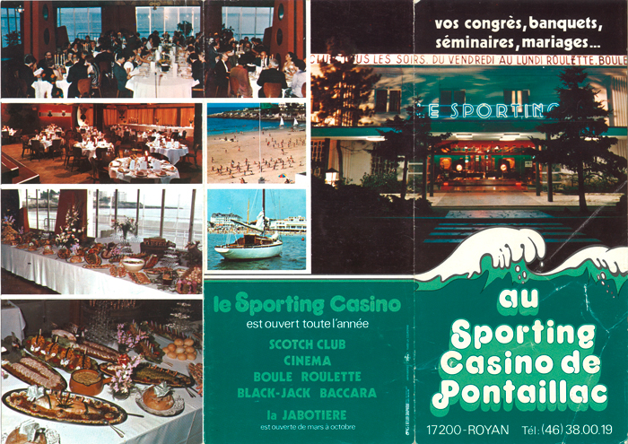 Casino pontaillac programme vacanze roulette ischia
