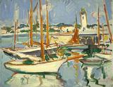 Boats at Royan - Samuel John Peploe