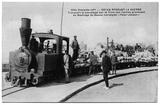 Transport des farines avec le tramway. Coll. M. Sicard